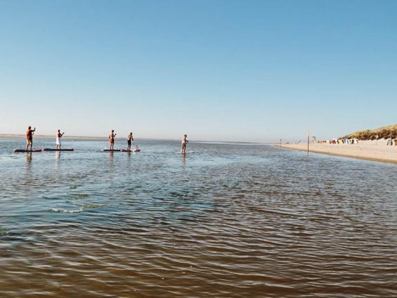 Stand-Up Paddling am Weststrand