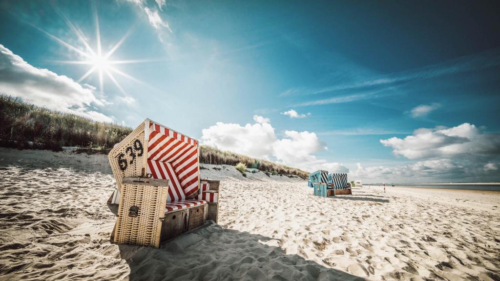 Strandkorb am strand  Sommer, Sonne und 14 km Strand | Nordseeinsel Langeoog
