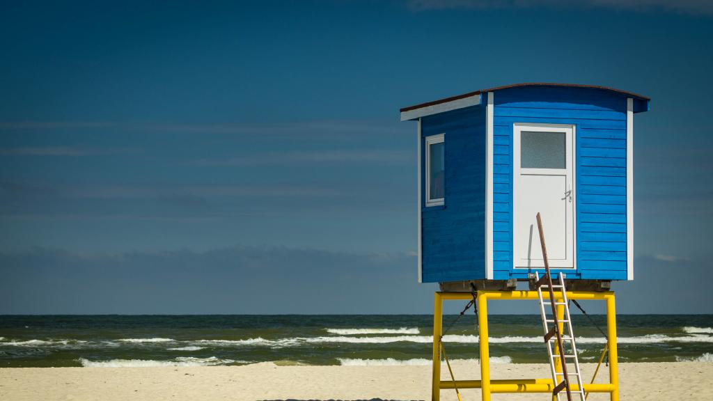 Lifeguard-Turm am Weststrand